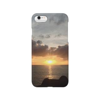 サンセットビーチ Smartphone cases
