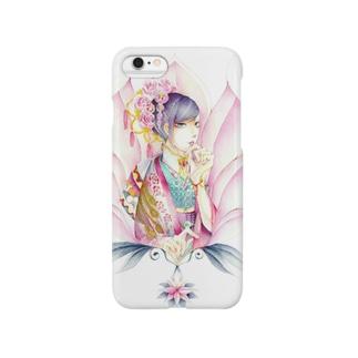花 ツツジ色 Smartphone cases