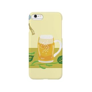 ジョッキ生ビールと枝豆 Smartphone cases