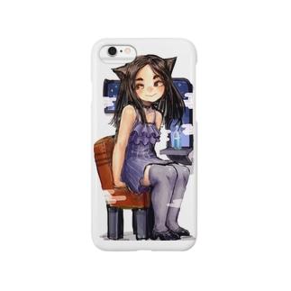 座り猫 Smartphone cases