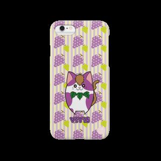 にゃんこグッズ●佐藤家のiPhone6用 [フルーツ猫シリーズ]ぶどうの猫・ヴィーティス Smartphone cases