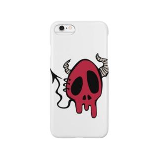 Devil Skull-Red- Smartphone cases