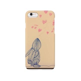 真っ黒うさぎのアイ愛の歌 Smartphone cases