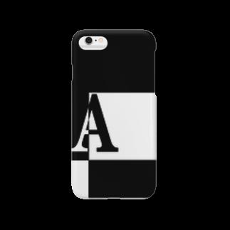 シンプルデザイン:Tシャツ・パーカー・スマートフォンケース・トートバッグ・マグカップのシンプルデザインアルファベットAスマートフォンケース