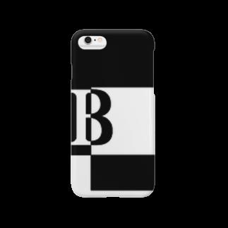 シンプルデザイン:Tシャツ・パーカー・スマートフォンケース・トートバッグ・マグカップのシンプルデザインアルファベットBスマートフォンケース