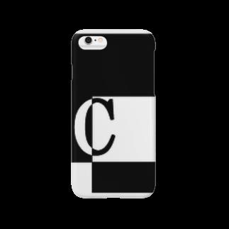 シンプルデザインアルファベットC スマートフォンケース
