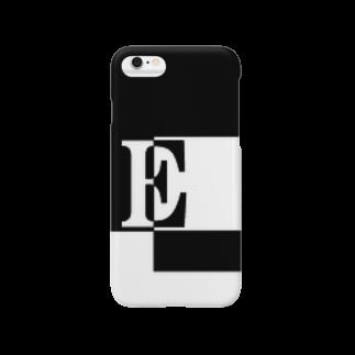 シンプルデザインアルファベットE スマートフォンケース