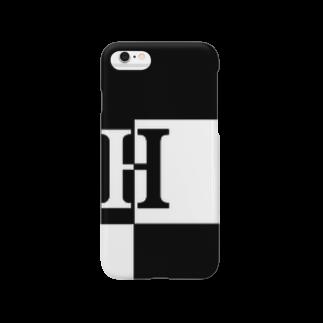 シンプルデザイン:Tシャツ・パーカー・スマートフォンケース・トートバッグ・マグカップのシンプルデザインアルファベットHスマートフォンケース