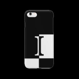 シンプルデザイン:Tシャツ・パーカー・スマートフォンケース・トートバッグ・マグカップのシンプルデザインアルファベットIスマートフォンケース