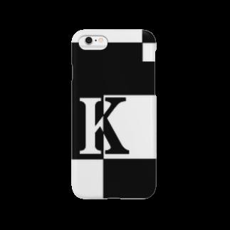 シンプルデザインアルファベットK スマートフォンケース