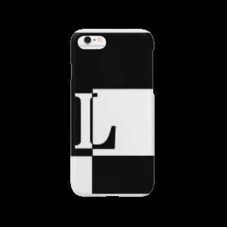 シンプルデザイン:Tシャツ・パーカー・スマートフォンケース・トートバッグ・マグカップのシンプルデザインアルファベットLスマートフォンケース