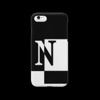 シンプルデザインアルファベットN スマートフォンケース