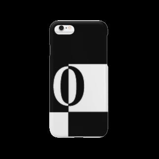 シンプルデザインアルファベットO スマートフォンケース