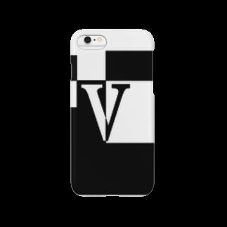 シンプルデザイン:Tシャツ・パーカー・スマートフォンケース・トートバッグ・マグカップのシンプルデザインアルファベットVスマートフォンケース