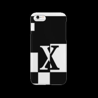 シンプルデザインアルファベットX スマートフォンケース