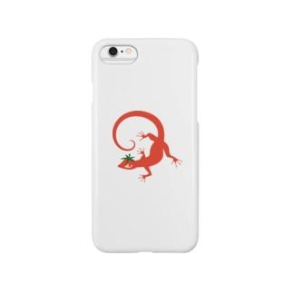 トマトカゲ Smartphone cases