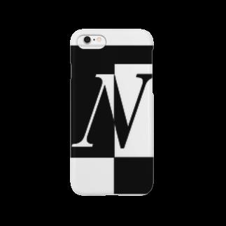 シンプルデザイン:Tシャツ・パーカー・スマートフォンケース・トートバッグ・マグカップのシンプルデザインアルファベットNスマートフォンケース
