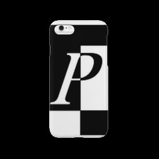シンプルデザインアルファベットP スマートフォンケース