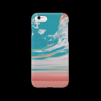 FLUFFY の夕焼けと空の分岐点 Smartphone cases