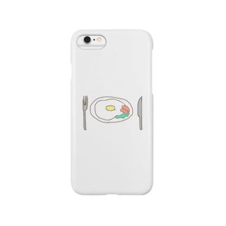 朝食 卵 Smartphone cases