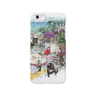 猫とペンギンと旅気分 Smartphone cases