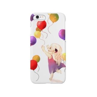 風船追いかける少女 Smartphone cases