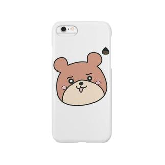◼︎くまろん◼︎ちょっぴりプンプンモード Smartphone cases