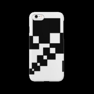 シンプルデザインペアハートの欠片 スマートフォンケース