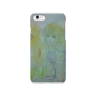 ひまわりと少女 Smartphone cases