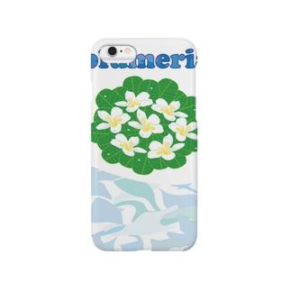 南国ハワイの花プルメリアの爽やかグッズ Smartphone cases