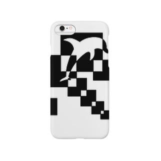 シンプルデザインペアハートの欠片イルカ Smartphone cases