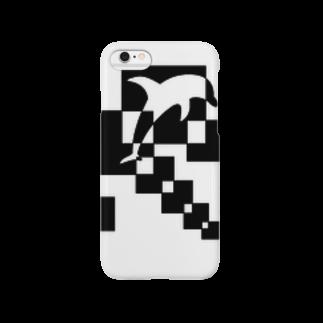 シンプルデザイン:Tシャツ・パーカー・スマートフォンケース・トートバッグ・マグカップのシンプルデザインペアハートの欠片イルカスマートフォンケース
