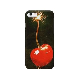 爆発チェリー Smartphone cases