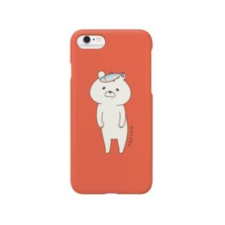 しろくまくま(レッド系) Smartphone cases