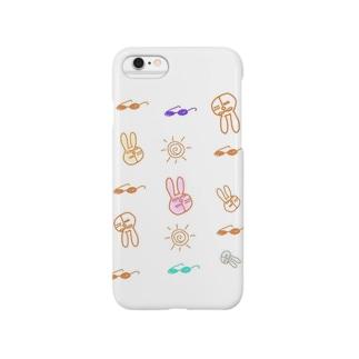 サングラスうさぎ Smartphone cases