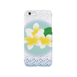 常夏のトロピカルな花プルメリア Smartphone cases