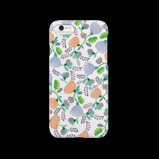 """イラストレーターNola(のら)のNolaの""""春いろ""""white Smartphone cases"""