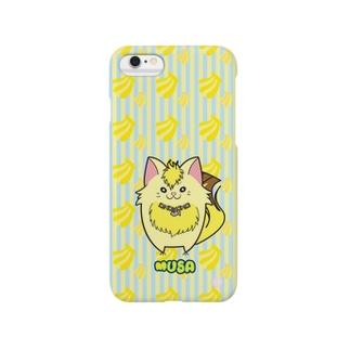 iPhone5用スマホケース[フルーツ猫シリーズ] バナナの猫・ムサ Smartphone Case