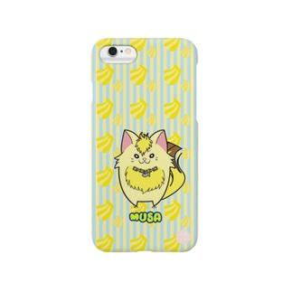iPhone6用スマホケース[フルーツ猫シリーズ] バナナの猫・ムサ スマートフォンケース