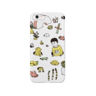 芽生え ホワイト Smartphone cases