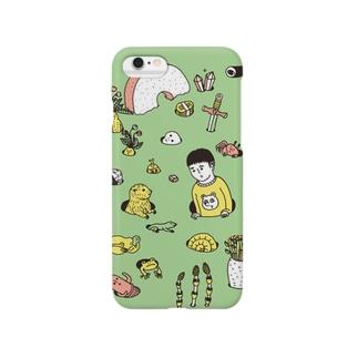 芽生え グリーン Smartphone cases