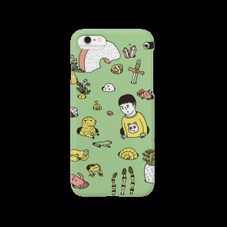 OKAMEの芽生え グリーン Smartphone cases