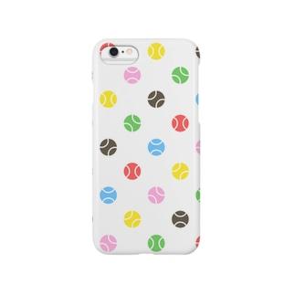 野球ボールの水玉(色) Smartphone cases