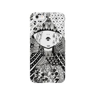 ゼンタングル(女の子) Smartphone cases