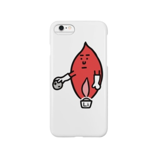 キャラNo.59炎色反応レッド(リチウム) Smartphone cases