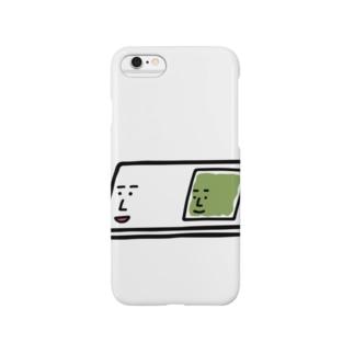キャラNo.57プレパラートくん(スライドガラスとカバーガラスくん) Smartphone cases
