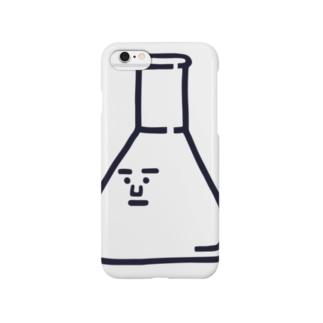 キャラNo.2三角フラスコくん《シンプルver》 Smartphone cases