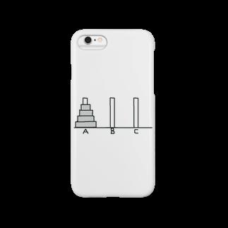 てきめんのハノイの塔 -AをBに移動しよう- スマートフォンケース
