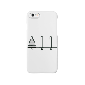 てきめんのハノイの塔 -AをBに移動しよう- Smartphone cases
