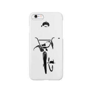 透明サイクラー(ロゴなし) Smartphone cases